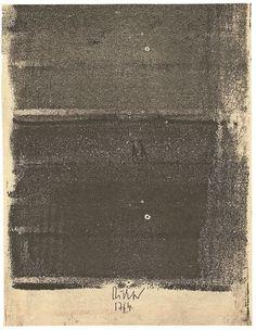 """Gerhard Richter  Dresden 1932 – lebt in Köln  Aus: """"Elbe"""". 1957/2012 Digitaler Tintenstrahldruck auf Papier (nach einem Walzendruck von 1957). 25,1 × 19,4 cm (9 ⅞ × 7 ⅝ in.) Signiert und datiert: 1764 [=Gründungsdatum der Dresdner Kunstakademie]. Butin 155. Einer von 26 Abzügen. Blatt 4 (von 31) der Folge: Elbe. Joe Hage, London."""
