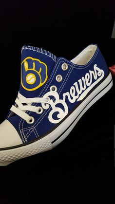 Throwback Milwaukee Brewers fan art shoe by RubyRoseslippers on Etsy https://www.etsy.com/listing/269552099/throwback-milwaukee-brewers-fan-art-shoe