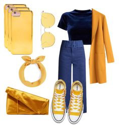 """90' style ⚠️"" by rofaa187 ❤ liked on Polyvore featuring Sea, New York, Forever 21, Diane Von Furstenberg, yellow, Blue, 90s, jeans and 80s"