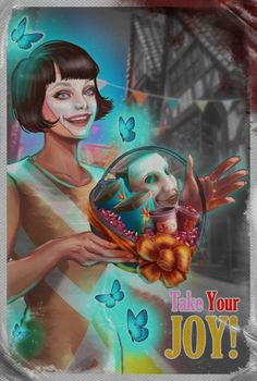 Joyful Welcome is my entry for the We Happy Few contest! The woman was drawn after one of the female characters on the games website, The pose was inspi. We Happy Few Game, Fable 2, Slaughterhouse Five, Welcome Baskets, Life Is Strange, Indie Games, School Projects, Female Characters, Video Games