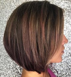 Brown+Bob+With+Subtle+Highlights