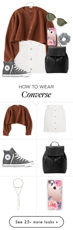 """""""autumn to winter"""" by dianaheart on Polyvore featuring Topshop, Uniqlo, MANGO, Converse, Taolei, Casetify, Ray-Ban and Natasha"""