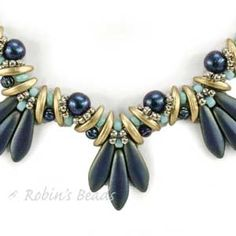 Bird's Tail Necklace Pattern by Akiko Nomura : A CzechMates Pattern Free with ONE CzechMates item