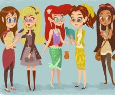 Modern Princesses, I love Aurora's! Dee The Ariel one is for you!