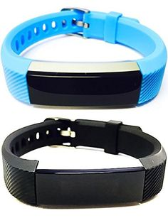 BSI Set 1 Light Blue 1 Black Classic Accessory Bands For Fitbit Alta Activity Tracker Adjustable Silicone Design Straps With Metal Buckle Clasp * Want additional info? Click on the image.