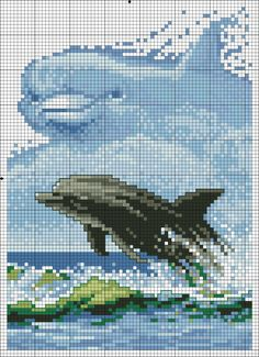 Cross stitch *<3* Point de croix Dauphins
