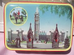 Vintage BLUE BIRD Toffee Tin,Canadian Mounty,Canadian Parliment,Antique,Collectible Tin,Biscuit TIN,Keepsake TIn,Canadiana by KathysRetroKorner on Etsy