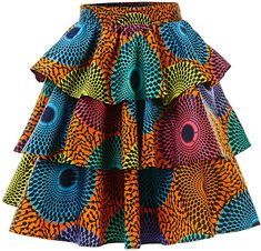 HongyuAmy Women African Print Skirt Ankara Skirts Dashiki Clothing (X-Large, Color A) African Dresses For Kids, African Maxi Dresses, Latest African Fashion Dresses, African Print Fashion, African Attire, African Wear, African Women, African Print Skirt, Printed Skirts