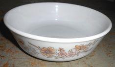 Vintage Bowl  Pyrex  Country Autumn Floral Brown by TheBackShak, $9.00