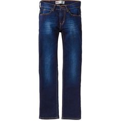 Levi'S Boy 511 Slim Leg Tapered Jeans (£41) ❤ liked on Polyvore featuring jeans, straight-leg jeans, button-fly jeans, slim straight jeans, slim straight leg jeans and faded blue jeans