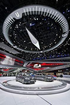 "Audi IAA Frankfurt Motor Show 2015 - ""the power of four""; Exhibit design; Auto show display"