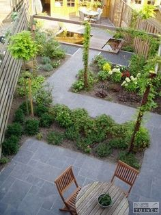 Garden Design Plans, Home Garden Design, Back Gardens, Small Gardens, Rustic Gardens, Outdoor Gardens, Top Photos, Narrow Garden, Garden Posts