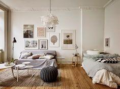 Boho Deco Chic: El piso de la semana:Blanco, gris y colores empolvados, bonito no, lo siguiente!