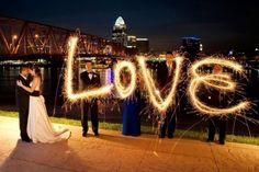 Sparkler Wedding Photos