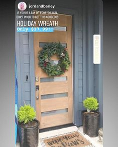 """b2246f4d608 COSTCO DEALS on Instagram  """"❤️Make your door look as good as  jordandbarley  with this  fresh  costco  holiday  wreath only  17.99! It s so beautiful  and a ..."""