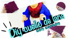 Cómo tejer un cuello bufanda de lana con cartón ◁❄️⛄️ - YouTube
