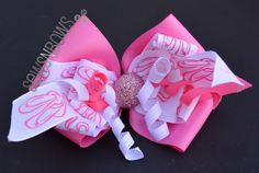 Ballerina Hair Bows & Ballet Slipper Ribbon Sculpture | SewsNBows