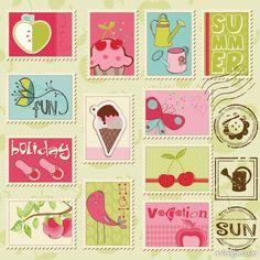 Postzegels thema post