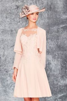Gorgeous pale pink outfit - Mother of the bride look by Ronald Joyce 991136 02