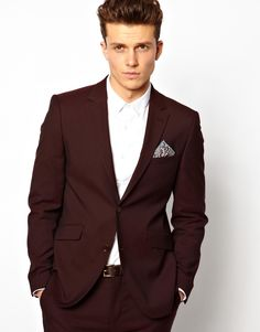 Burgundy Blazer by Peter Werth. Buy for $318 from Asos
