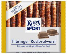 RITTER SPORT Fake Schokolade Thüringer Rostbratwurst