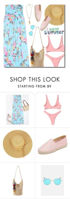 """""""I Want Summer!!!"""" by justkejti ❤ liked on Polyvore featuring South Parade, Athleta, Summer, summerstyle, floraldress and zaful"""