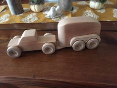 Handcrafted Wooden Pickup Truck and Horse Trailer by NagreenWoodworking on Etsy https://www.etsy.com/listing/571859013/handcrafted-wooden-pickup-truck-and