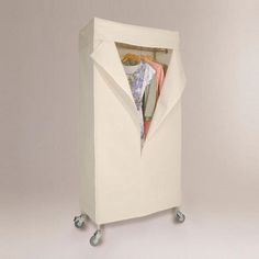 One of my favorite discoveries at WorldMarket.com: Garment Rack with Canvas Cover