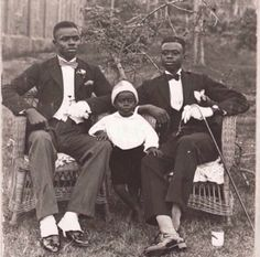 The brothers Charles, Samuel, and Timothy Amaning. Gold Coast, 1915.
