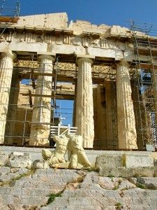 Even though the Greek government has been restoring the Acropolis since 1975, given it was blown up at one point, they've done a pretty good job.