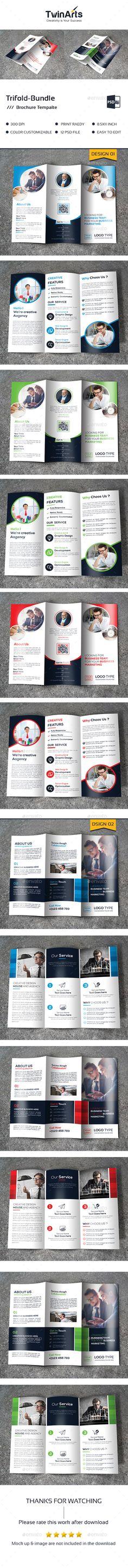Tri-fold in 1 - Brochures Print Templates Indesign Brochure Templates, Travel Brochure Template, Bi Fold Brochure, Business Brochure, Brochure Design, Booklet Design, Pose, Corporate, Print Templates
