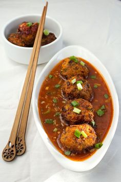#veg balls in hot #garlic #sauce - #indian #starters #recipes