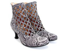 Fluevog DeVere (Black Paisley)  -If I was rich I would own so many pairs of Fluevogs! Love these!