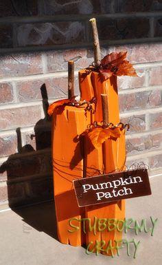 Stubbornly Crafty: Wooden Pumpkin Patch