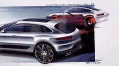 Porsche Macan - Design sketches by Mitja Borkert