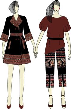 New Fashion Work Teacher Dresses Ideas Indie Fashion, New Fashion, Trendy Fashion, Womens Fashion, Batik Kebaya, Batik Dress, Dress Sketches, Fashion Sketches, Teacher Dresses