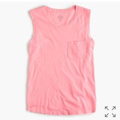 Image result for pink j crew muscle tee