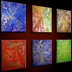 Abstract oil paintings.