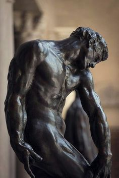 "ganymedesrocks: "" Auguste Rodin - Adam The Adam, also known as The Creation of Man, although not finished until was directly inspired by Michelangelo's. The Thinker Sculpture, Sculpture Head, Abstract Sculpture, Bronze Sculpture, Wood Sculpture, Metal Sculptures, Sculpture Rodin, Sculpture Museum, Auguste Rodin"