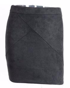 Womens Suede Pencil Mini Skirt