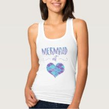 Cute Mermaid at Heart Women's Tank Top