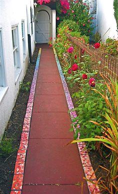 Mosaic walkway by Rachel Rodi                                                                                                                                                      More