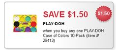 $1.50/1 Play-Doh 10-Pack Fascebook Coupon