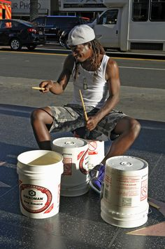 Drum player in Hollywood