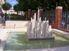 Travelogue Sardinia: Cagliari: Le sculture di Sciola nel Giardino sotto le Mura, Sardegna.
