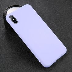 Silicone Solid Color Phone Cases - For 6 Plus 6s Plus / Purple