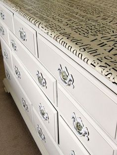 Cover the Top In Giftwrap | 99 Clever Ways To Transform A Boring Dresser
