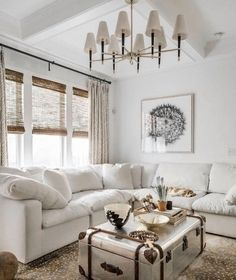 Modern Farmhouse style cozy living room decor with cloud sectional, country styl. Modern Farmhouse style cozy living room decor with cloud sectional, country styl… Small Living Room Design, Living Room Decor Cozy, Cottage Living Rooms, Living Room Modern, Home Living Room, Living Room Furniture, Living Room Designs, Furniture Stores, Wooden Furniture