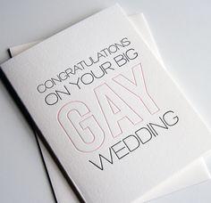Congratulations Gay Wedding Card | Steel Petal Press