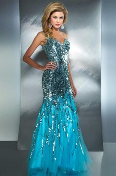 Alternate view of the MacDuggal 85094M Sequin Mermaid Dress with Open Back image